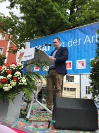 Christian De Lapuente im Wahlkampf 2018